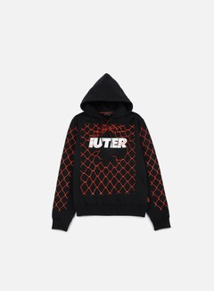 Iuter - Net Hoodie, Black 1