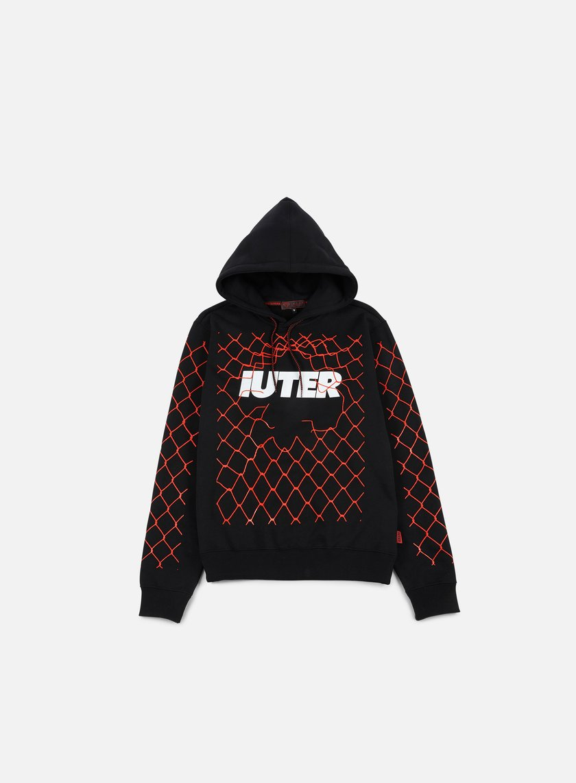 Iuter - Net Hoodie, Black