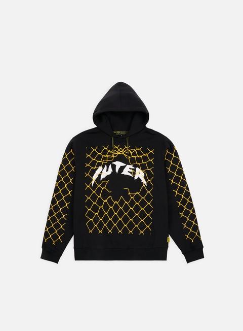 felpe iuter net hoodie black yellow
