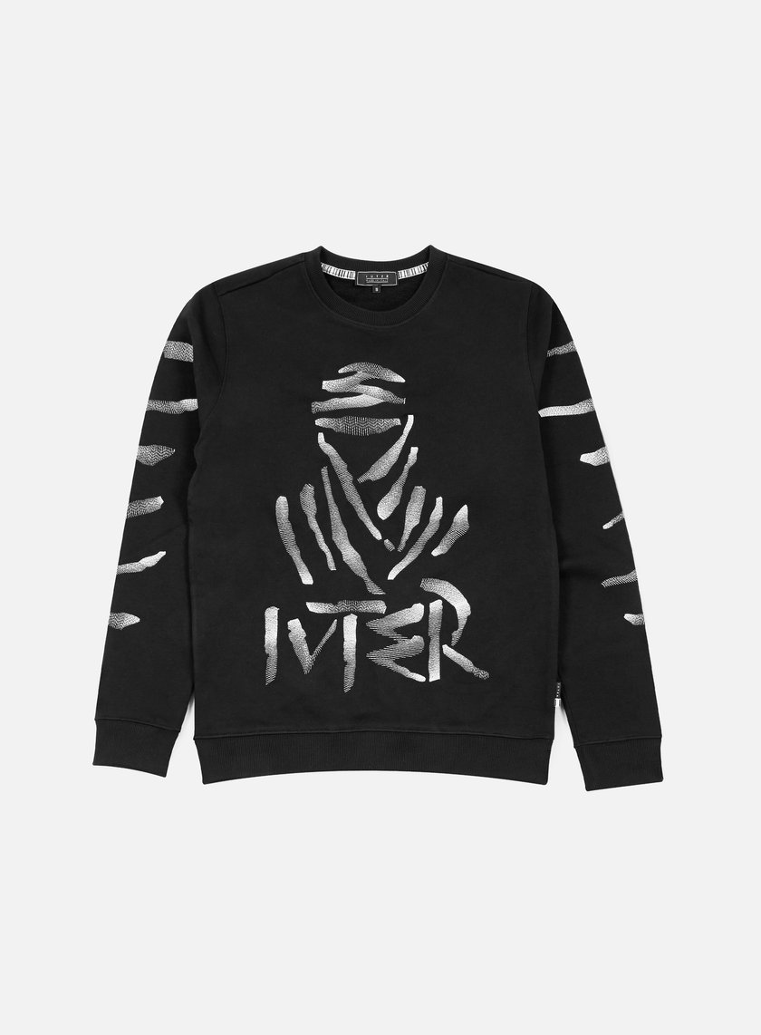 Iuter - Paris Embroidered Crewneck, Black