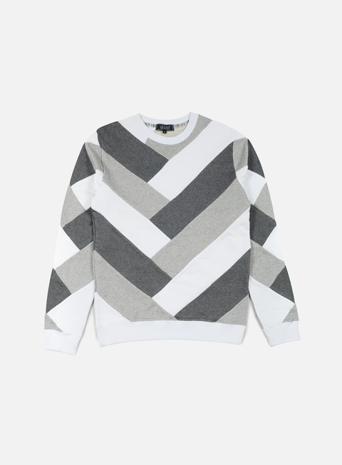 felpe iuter parquet multi crewneck light grey