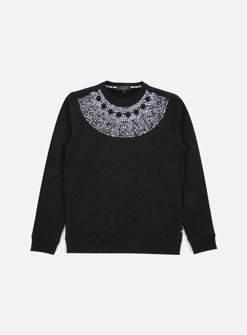 felpe iuter rosone embroidered crewneck black