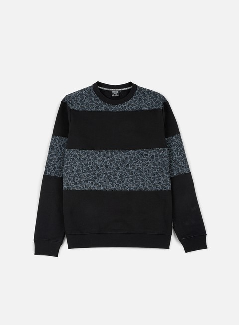 felpe iuter rule multilogo crewneck black