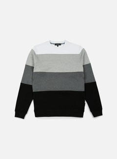Iuter - Rule Stripes Insert Crewneck, Black