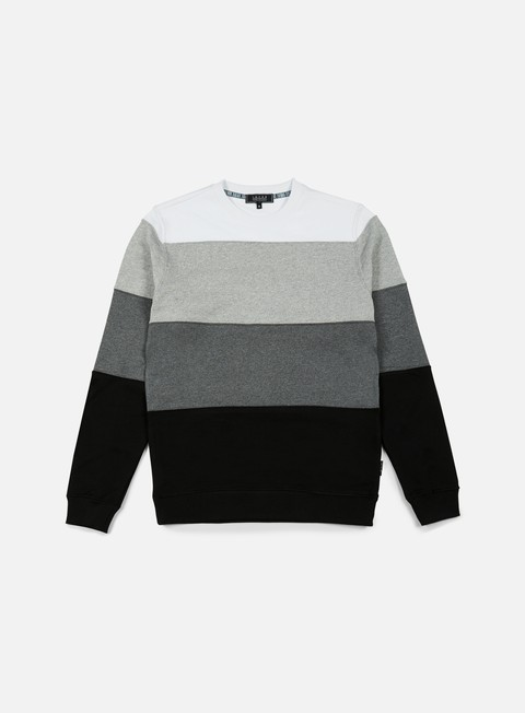 felpe iuter rule stripes insert crewneck black