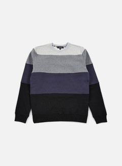 Iuter - Rule Stripes Insert Crewneck, Dark Grey 1