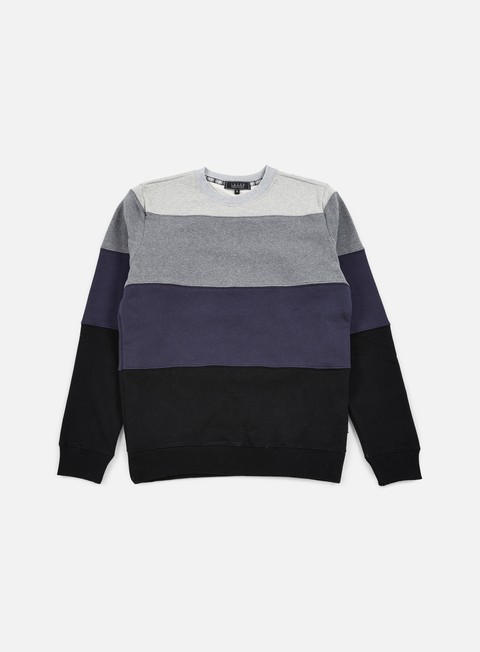 felpe iuter rule stripes insert crewneck dark grey