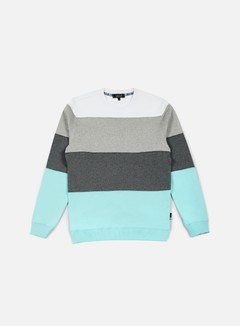Iuter - Rule Stripes Insert Crewneck, Lagoon 1