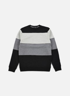 Iuter - Rule Stripes Insert Crewneck, Light Grey
