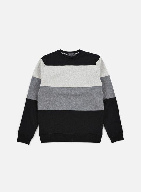 felpe iuter rule stripes insert crewneck light grey
