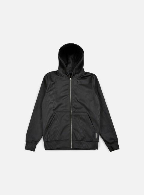 felpe iuter snakerun embossed hoodie black