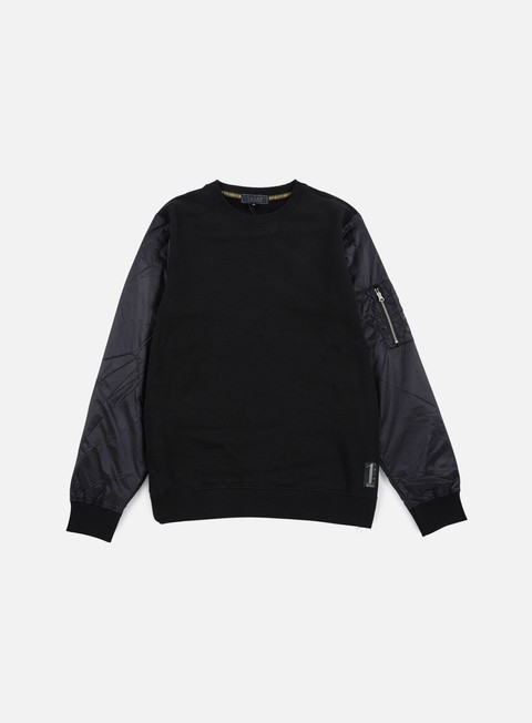 felpe iuter soft sleeve crewneck black