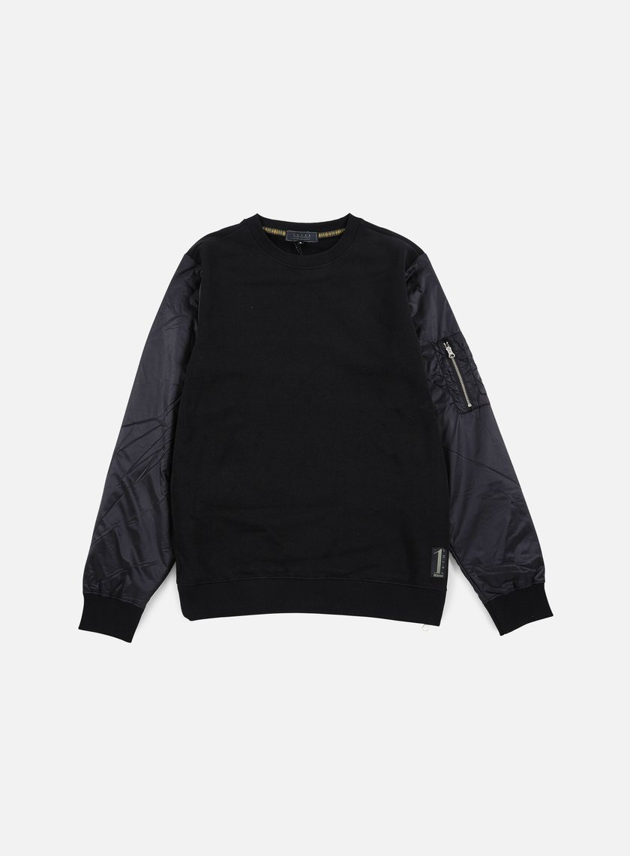 Iuter - Soft Sleeve Crewneck, Black