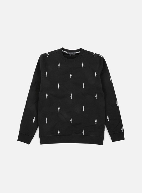 felpe iuter spear crewneck black