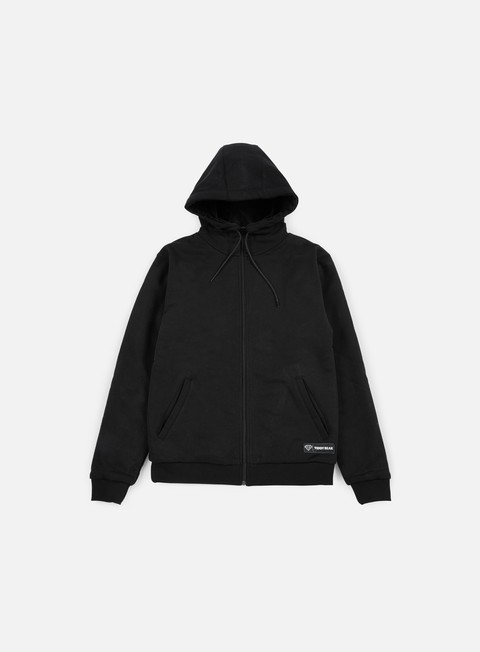 felpe iuter teddybear minilogo zip hoodie black