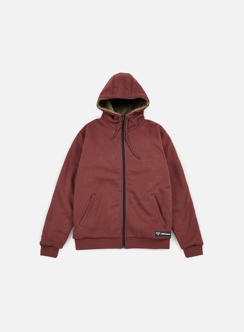 felpe iuter teddybear minilogo zip hoodie bordeaux