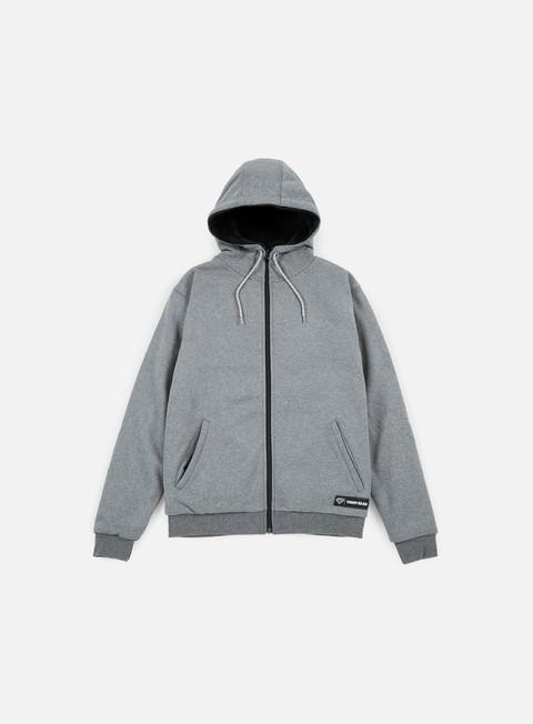 felpe iuter teddybear minilogo zip hoodie dark grey