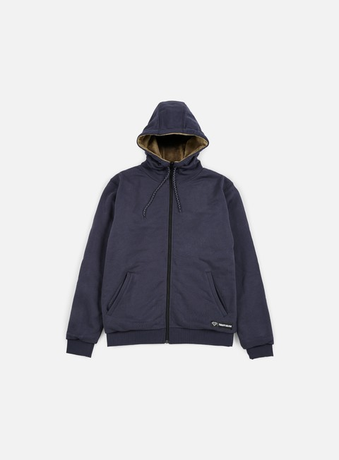 felpe iuter teddybear minilogo zip hoodie navy