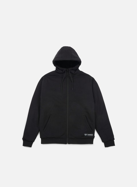 felpe iuter teddybear reversible zip hoodie black