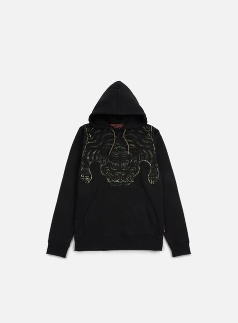 felpe iuter tibetan camo hoodie black