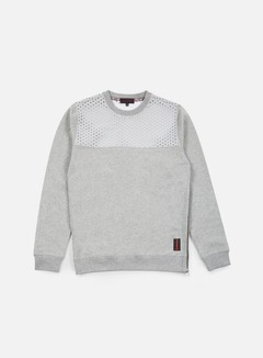 Iuter - Vent Perforated Neoprene Insert Crewneck, Light Grey