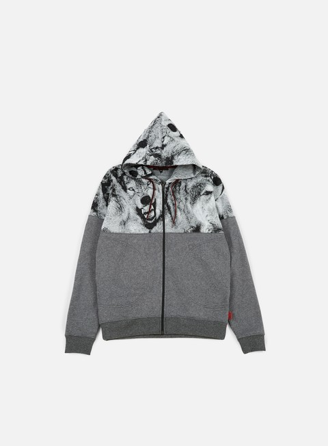 felpe iuter wolves runner hoodie dark grey