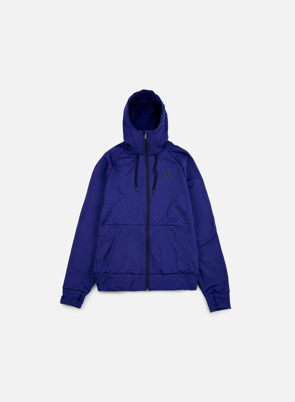 Jordan - 360 Fleece Full Zip Hoodie, Deep Royal Blue/Black