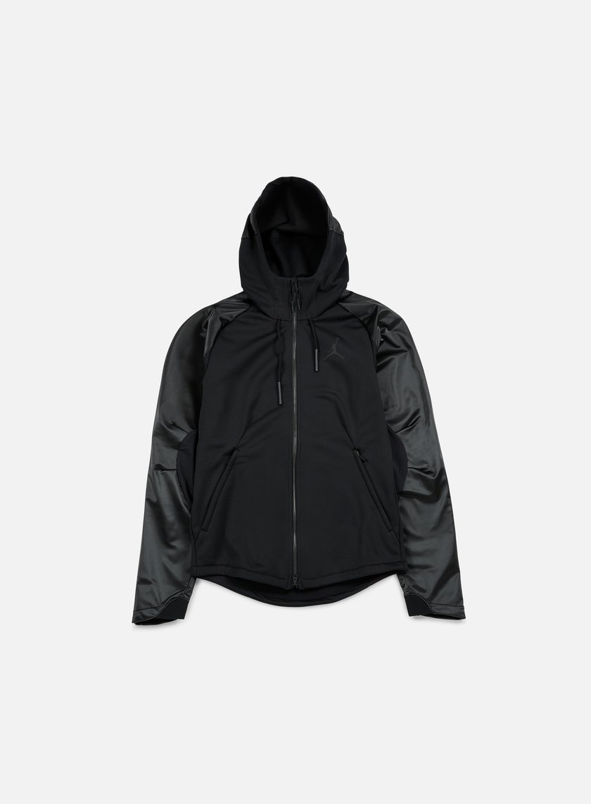 Jordan - 360 Therma Shield Max Full Zip Hoodie, Black/Black