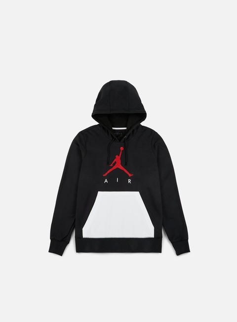 felpe jordan air lightweight hoodie black gym red