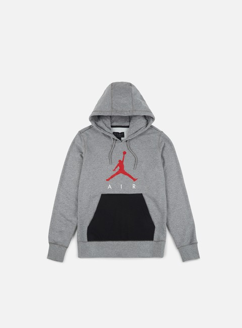 felpe jordan air lightweight hoodie carbon heather gym red