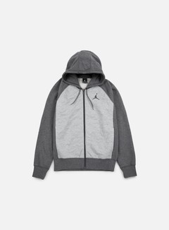 Jordan - AJ 3 Full Zip Hoodie, Charcoal Heather/Dark Grey 1