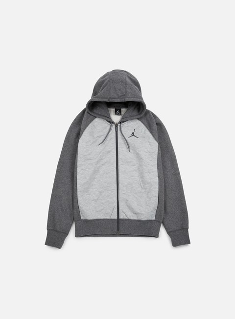 felpe jordan aj 3 full zip hoodie charcoal heather dark grey