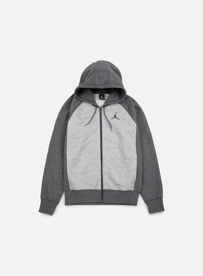 Jordan - AJ 3 Full Zip Hoodie, Charcoal Heather/Dark Grey