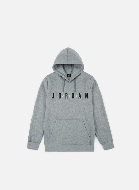 felpe jordan flight fleece air hoodie dark grey heather