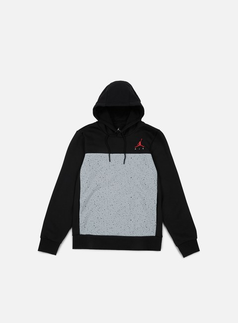 felpe jordan flight fleece cement hoodie black