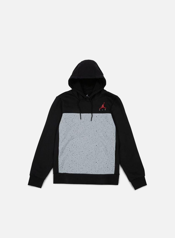 Jordan - Flight Fleece Cement Hoodie, Black