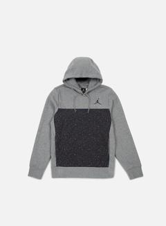 Jordan - Flight Fleece Cement Hoodie, Carbon Heather