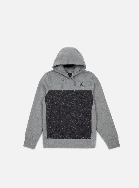 felpe jordan flight fleece cement hoodie carbon heather