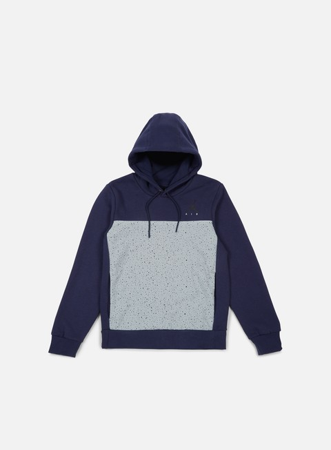 felpe jordan flight fleece cement hoodie midnight navy