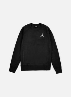 Jordan - Flight Fleece Crewneck, Black/White 1