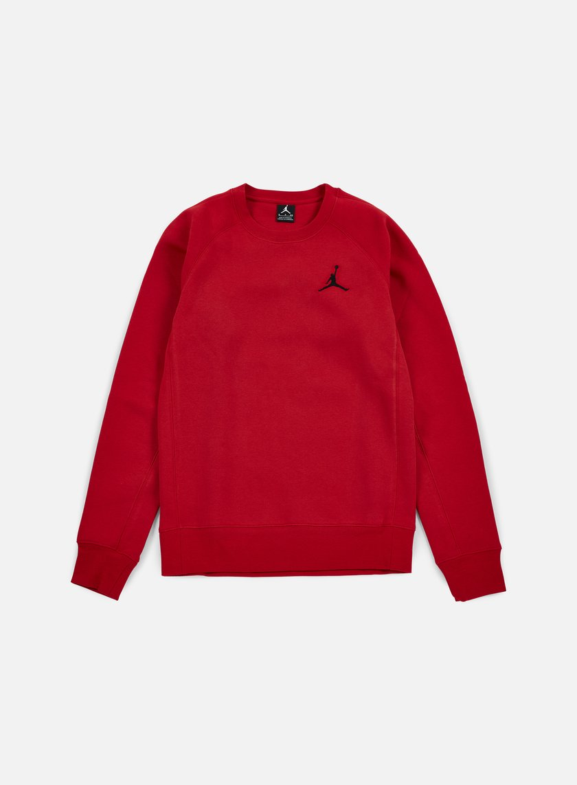 Jordan - Flight Fleece Crewneck, Gym Red/Black