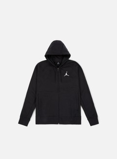 Jordan - Flight Fleece Full Zip Hoodie, Black/White 1