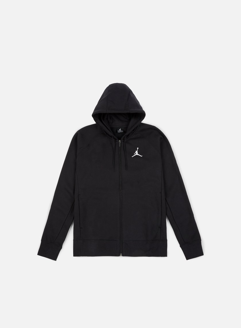 Jordan - Flight Fleece Full Zip Hoodie, Black/White
