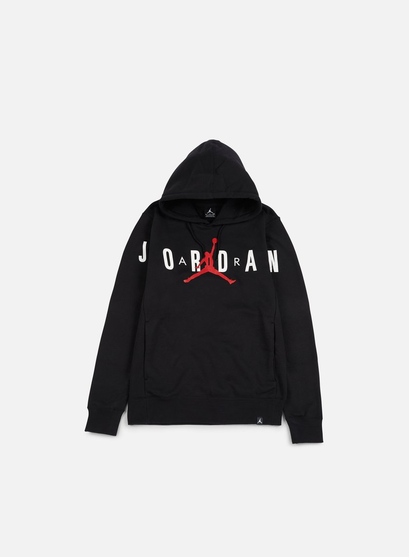 Jordan - Flight Fleece Graphic Hoodie, Black/Anthracite