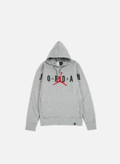 Jordan - Flight Fleece Graphic Hoodie, Dark Grey Heather