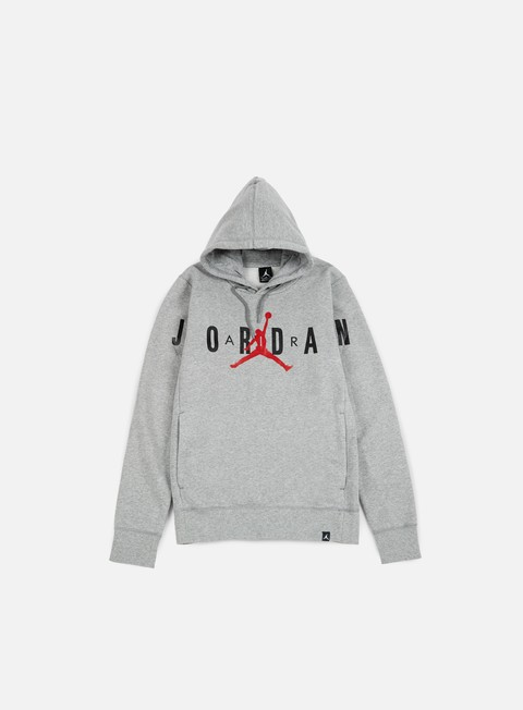 felpe jordan flight fleece graphic hoodie dark grey heather