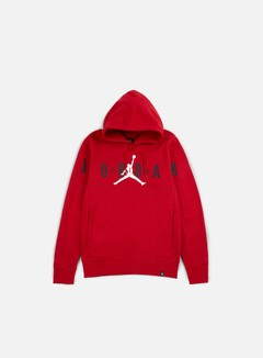 Jordan - Flight Fleece Graphic Hoodie, Gym Red