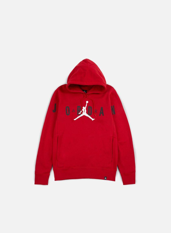 Jordan - Flight Fleece Graphic Hoodie, Gym Red