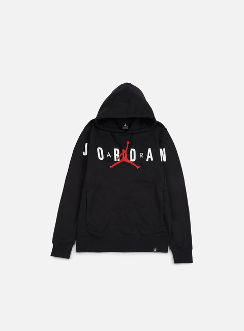 felpe jordan flight fleece graphic hooide black anthracite