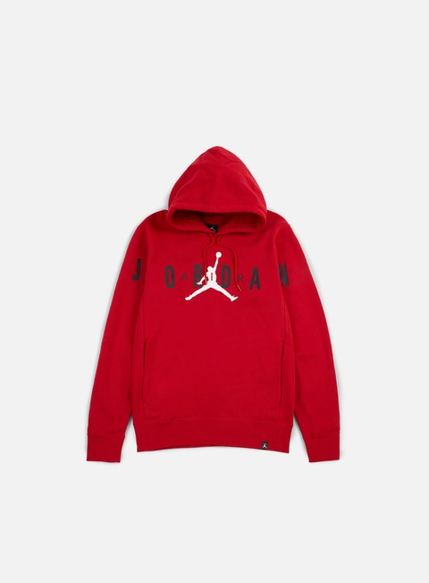 felpe jordan flight fleece graphic hooide gym red